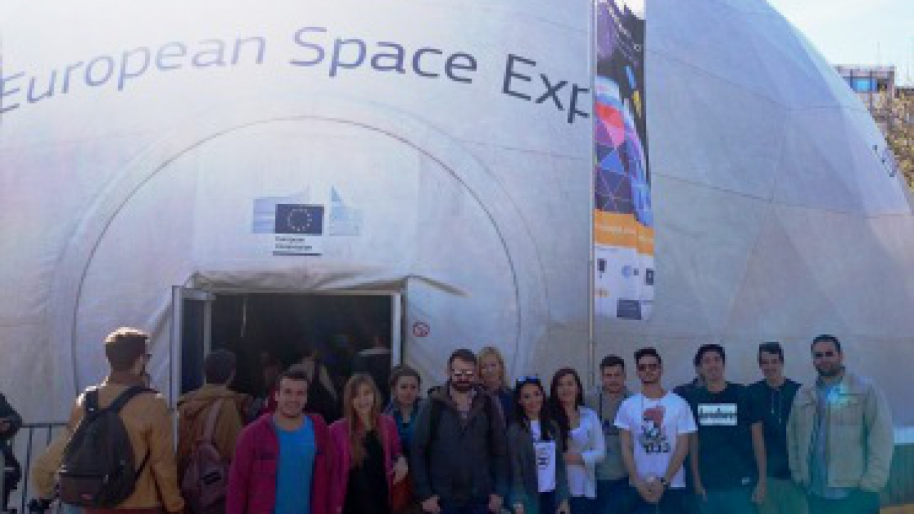 Civil Engineering students visit the European Space Exhibition 2015