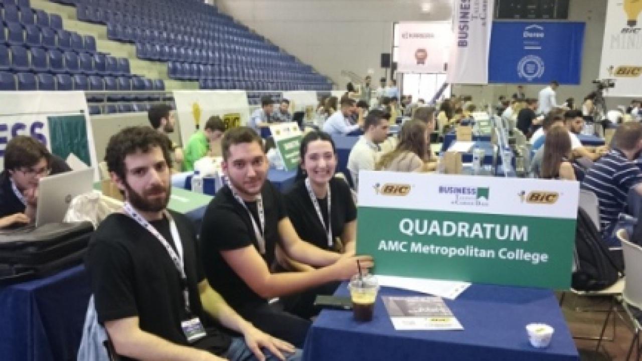 """Το Μητροπολιτικό Κολλέγιο για 2η συνεχή χρονιά στον Τελικό του Φοιτητικού Διαγωνισμού """"BUSINESS TALENTS GREECE"""""""