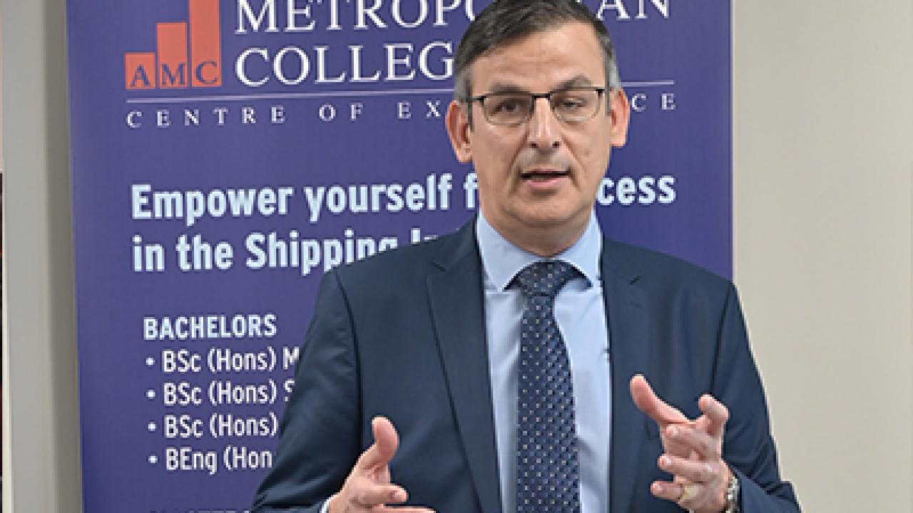 Διάλεξη από τον Αντώνη Τρακάκη στο πλαίσιο του θεσμού Shipping Leaders in Residence