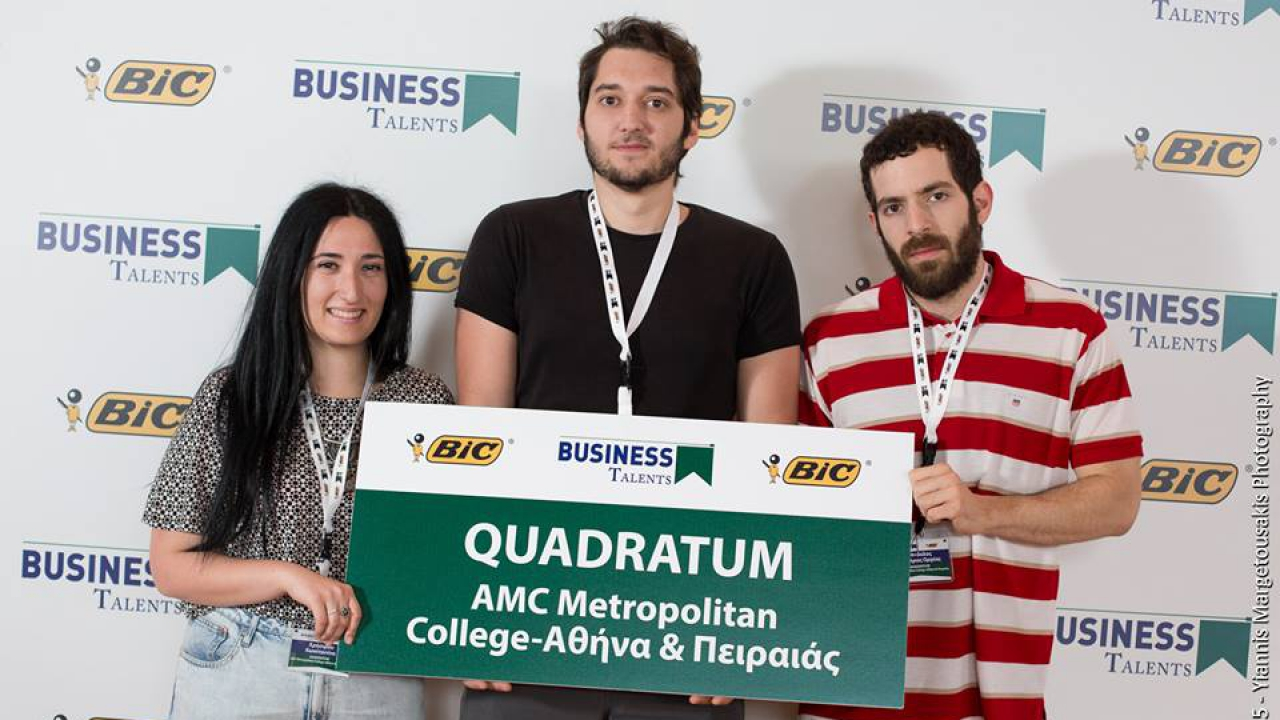 BUSINESS TALENTS GREECE 2015: Metropolitan College team among the first 12 best teams in Greece