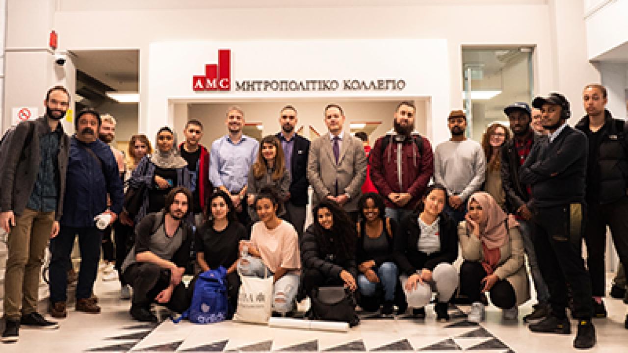 Φοιτητές Αρχιτεκτονικής από το University of East London στο Μητροπολιτικό Κολλέγιο Θεσσαλονίκης