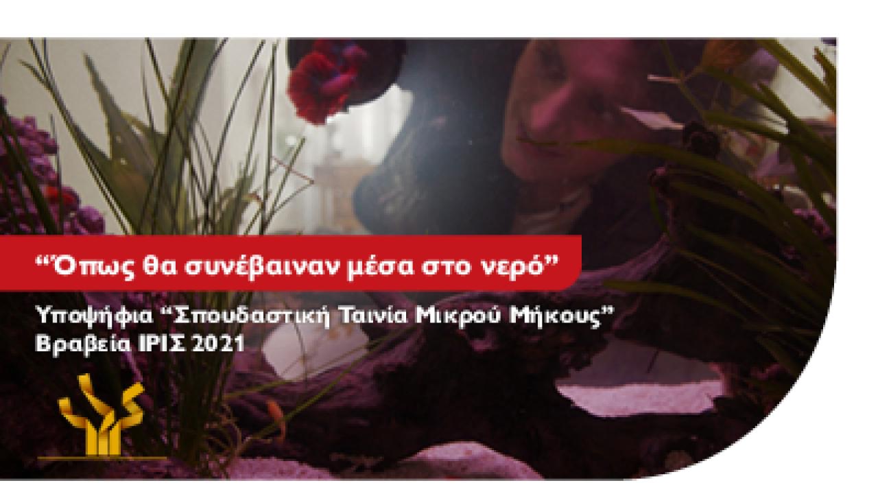 Η απόφοιτη Σκηνοθεσίας του Μητροπολιτικού Κολλεγίου Ανθή Δαουτάκη υποψήφια για Βραβείο Ίρις Καλύτερης Σπουδαστικής Ταινίας